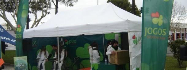 Ativação de Marca – JSC na Volta ao Algarve em Bicicleta – Implementação dos equipamentos durante as várias etapas da prova