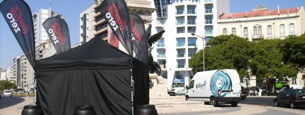 Ativação de Marca – Coca-Cola 0 – Implementação dos equipamentos pelos principais pontos das cidades Lisboa e Porto.