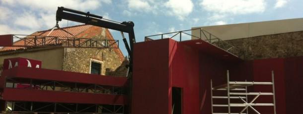 Produção Stand SCML no Rock in Rio Lisboa, produção industrial, produção gráfica e implementação.