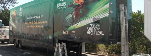 Decoração integral de viatura  JSC para a Volta a Portugal em bicicleta