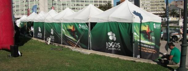 Volta a Portugal em bicicleta JSC. Produção, logística e implementação dos equipamentos durante as várias etapas da prova.