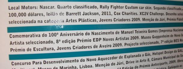Decoração Faculdade Belas Artes Lisboa