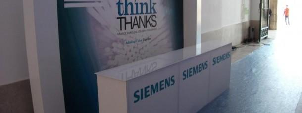 Decoração Welcome  Desk Siemens