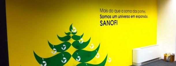 Decoração Natal Sanofi
